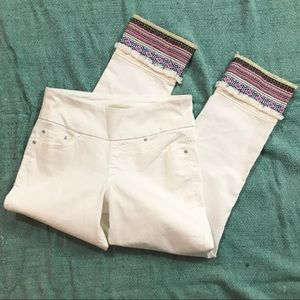 Jag Jeans White Peri Straight Ankle High Waist